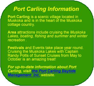 Port Carling Info